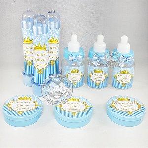 Lembrancinhas Chá de Bebe Coroa Azul 60 peças