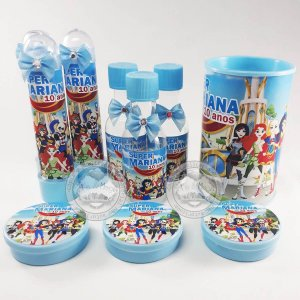 Kit Festa infantil Personalizado DC Super Hero Girls