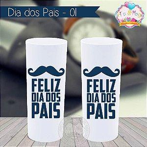 Copo Long Drink Personalizado Dia dos Pais