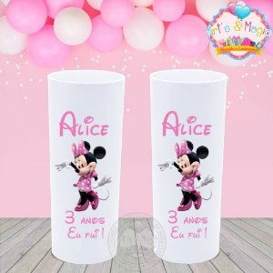 Copo Long Drink Personalizado Minnie Rosa