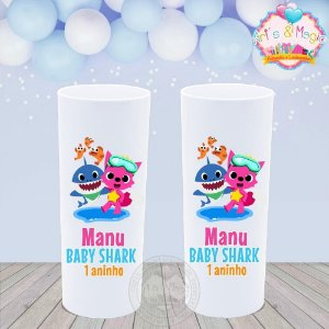 Copo Long Drink Personalizado Baby Shark