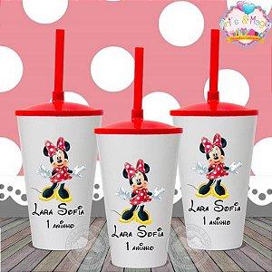 Copo twister Personalizado Minnie Vermelha