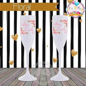 Taça Personalizada Floral