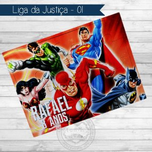 Quebra Cabeça Personalizado Liga da Justiça