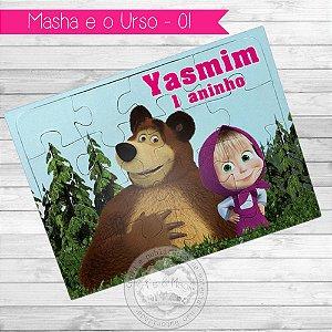 Quebra Cabeça Personalizado Masha e o Urso
