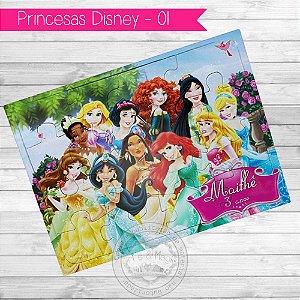 Quebra Cabeça Personalizado Princesas Disney