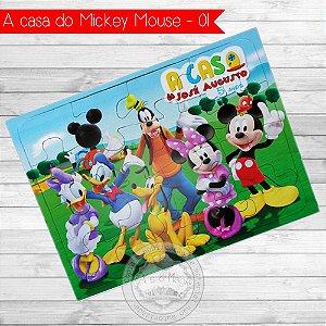 Quebra Cabeça Personalizado A casa do Mickey Mouse