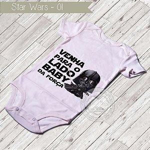 Body Infantil para bebê Star Wars