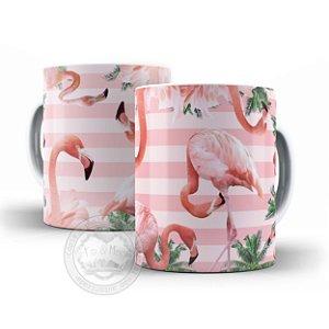 Caneca criativa Flamingos