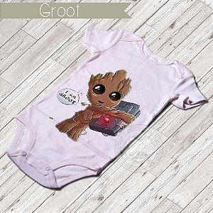 Body Infantil para bebê Eu sou o Groot