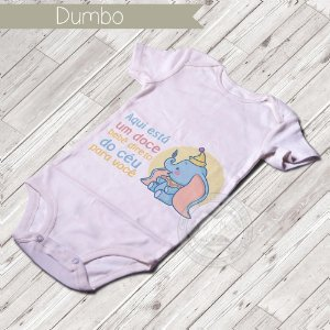 Body Infantil para bebê Dumbo Baby