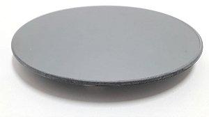 Bandeja redonda espelhado fume  diâmetro 20 vetro
