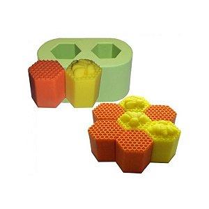 Formas de Silicone Molde Colmeia Mini 2 cavidades