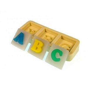 Forma de Silicone Molde ABC / a z !