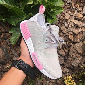 adidas nmd feminino cinza com rosa
