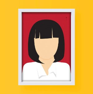 Mia Wallace - Pulp Fiction - Minimalista