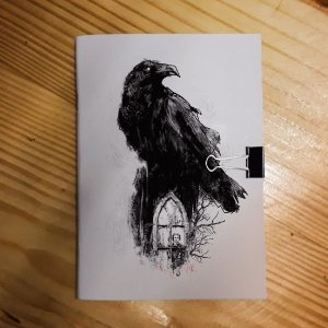 Caderno - Edgard Alan Poe (Corvo)