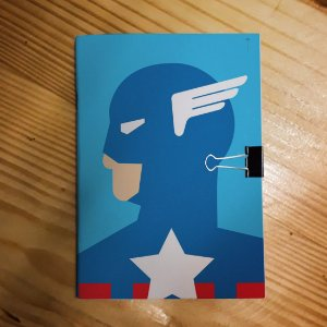 Caderno - Capitão América (Minimalista)