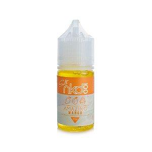 Juice Naked 100 SALT Nicotine Amazing Mango 35mg 30ml (Uso Somente em POD'S)