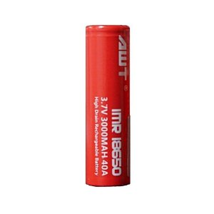 Bateria 18650 Li-Mn IMR 18650 AWT 3.7V 3000mAh High Drain 40A Flat Top - Unitário