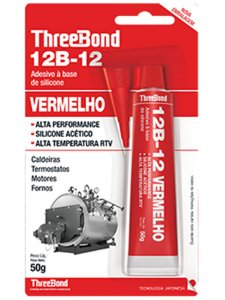 Cola Silicone para Alta Temperatura Vermelho 316°C