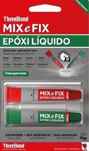 Cola Epóxi Mix e Fix Three Bond