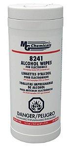 Lenço Umedecidos com Álcool 70/30 - Tubo com 75 lenços