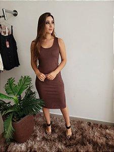 Vestido Midi Gola V