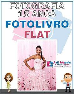 Fotografia de 15 Anos - Fotolivro Flat Capa Almofadada