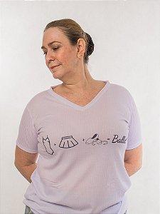 Camiseta gola V - Coisas de bailarina