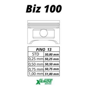 PISTAO KIT BIZ 100 / DREAM / SUNDOWN WEB SMART FOX 1,00