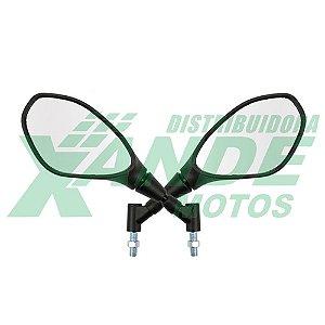 RETROVISOR [PAR] BMW 650-850 (COMPATIVEL COM MOTOS HONDA) PRETO 360° RVG