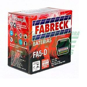 BATERIA TITAN 150 2009 / FAN 125 / BIZ 125 2009 / XRE 300 FA5-D FABRECK
