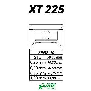 PISTAO KIT TDM 225 / XT 225 / TTR 230 KMP 0,75