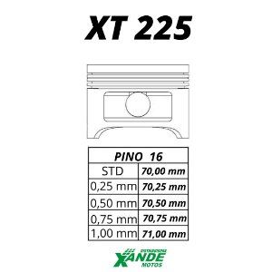 PISTAO KIT TDM 225 / XT 225 / TTR 230 KMP 0,50