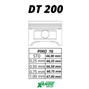 PISTAO KIT DT 200  KMP 1,50
