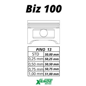 PISTAO KIT BIZ 100 / DREAM / SUNDOWN WEB KMP  STD