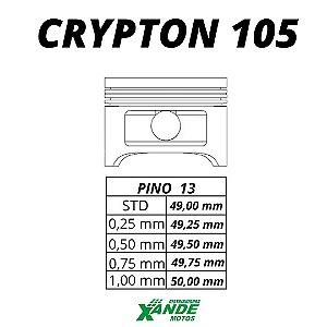 PISTAO KIT CRYPTON 105 / ZIG 100 2009-14  VINI 0,50