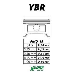 PISTAO KIT YBR / FACTOR / XTZ 125  METAL LEVE 0,25