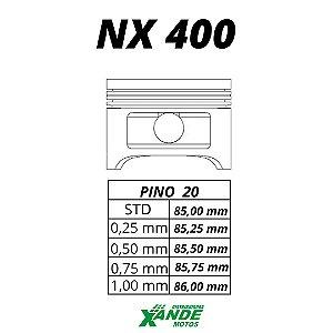 PISTAO KIT NX 400 FALCON KMP 1,00