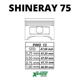 PISTAO KIT SHINERAY 50 [TRANSFORMA PARA 75CC] VINI 0,75