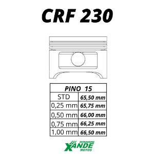 PISTAO KIT CRF 230 KMP/ RIK 0,25