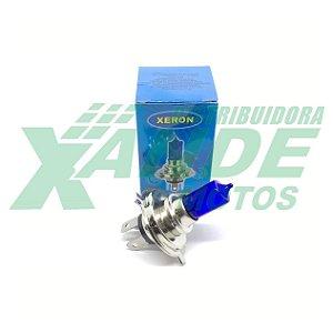 LAMPADA FAROL BIODO 12V 35-35W H4 TITAN /BROS 2003-08 AZUL ESCURO DUPLA AUDAX