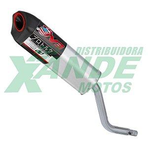 ESCAPAMENTO PRO TORK V3 CRF 230 (PONTEIRA - CROMADO) PRO TORK SUPER OFERTA