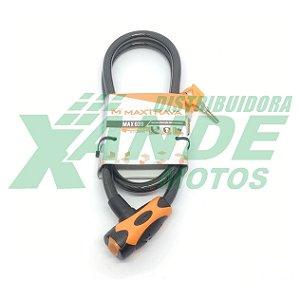 CADEADO COM CABO DE ACO ENCAPADO 12 X 1200 MAXTRAVA 039
