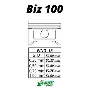 PISTAO KIT BIZ 100 / DREAM / SUNDOWN WEB KMP/ RIK 0,75