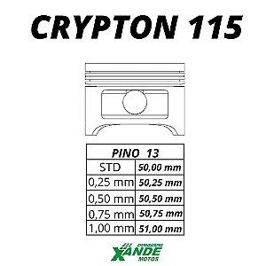 PISTAO KIT CRYPTON 115 VINI 0,75
