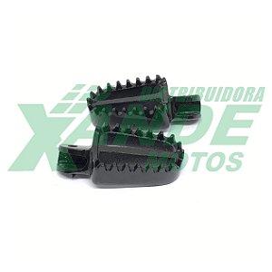 PEDALEIRA DIANT MODELO CROSS STARKE RACING (PAR) PRETA - CRF 230/XR 250/XTZ
