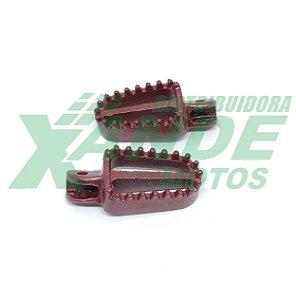 PEDALEIRA DIANT MODELO CROSS STARKE RACING (PAR) VERMELHA - CRF 230/XR 250/XTZ