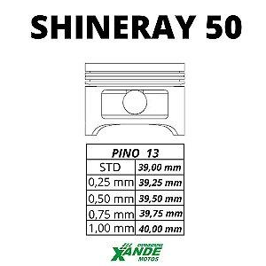 PISTAO KIT SHINERAY 50 VINI 0,25
